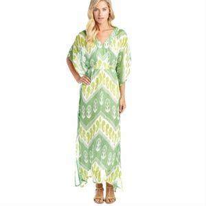 J. McLaughlin Libre Silk Crepe Kaftan Maxi Dress